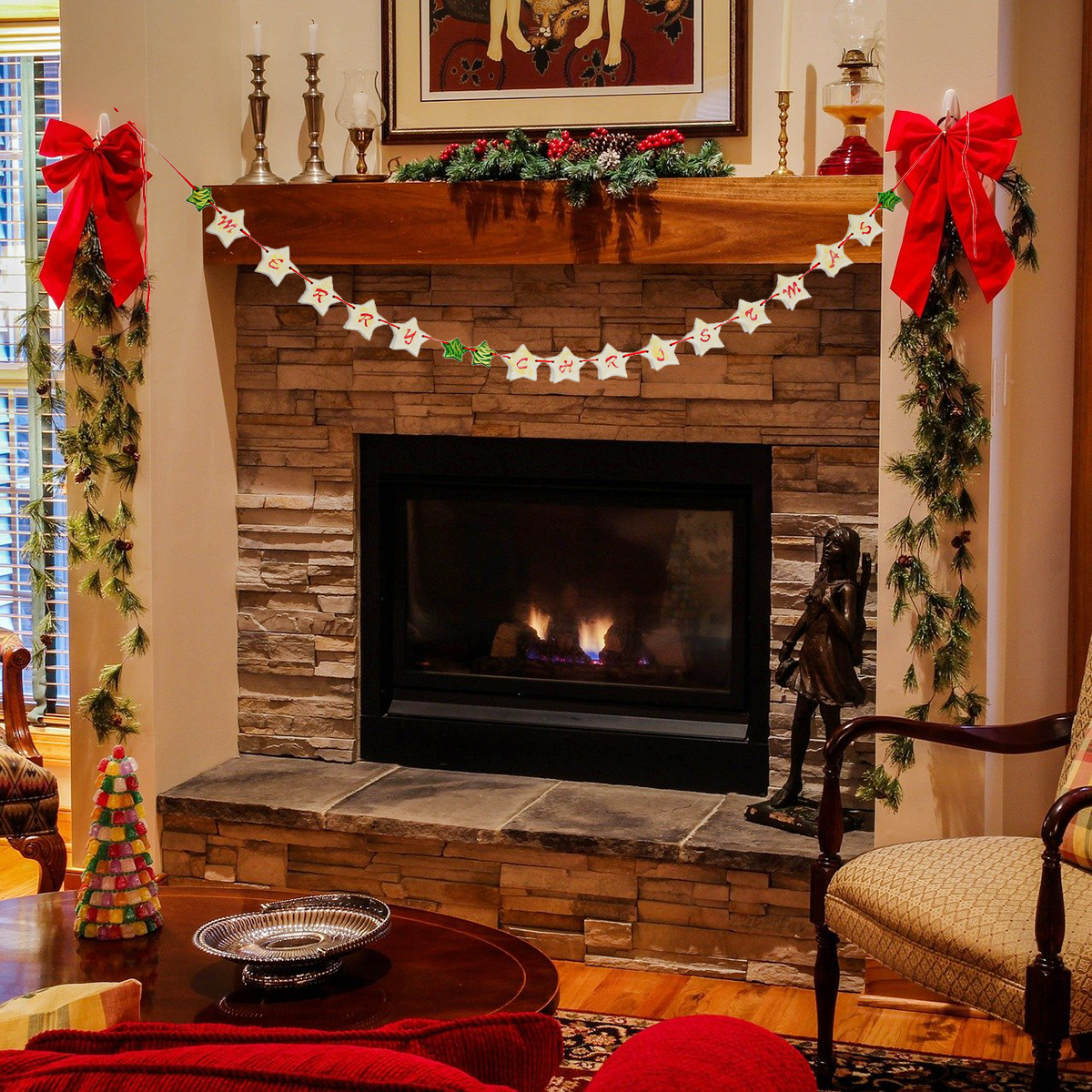 fireplace-christmas-ornaments
